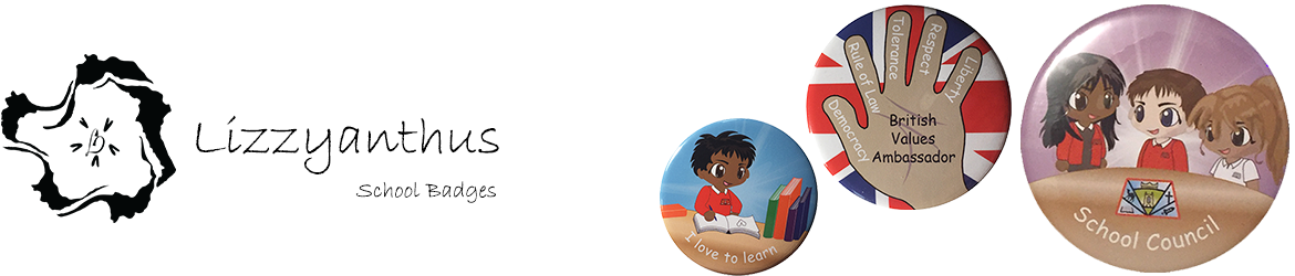 Customisable school badges buttons and supplies